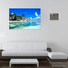 AP 17 Hot Selling Fast Shipping  3D Wallpaper Bedroom Living Mural Beach Sea Island Landscape Modern Wall Sticker