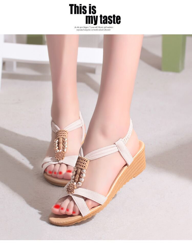 9307498e5df LAKESHI Women Sandals Ladies Sandals 2018 New Summer String Bead ...
