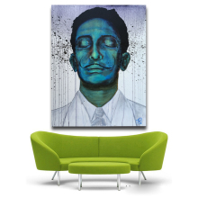 Salvador Dali sleep protrait Pop Art Oil Painting Face Portrait Print Wall Painting For Living room No Frame free shipping