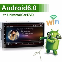 Quad core 2 din android 6.0 2din universal Car Radio Double Car DVD GPS Navigation In dash Car PC Stereo video