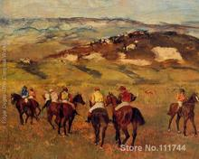 online art gallery Racehorses I Edgar Degas oil paintings Canvas Hand painted High quality(China)