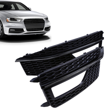 1pair Auto Car Front Lower Bumper Grille Fog Light Grills Cover For Audi A4 B9 (Sport Style) Car Accessories
