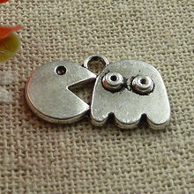 180 pieces tibetan silver nice charms 19x12mm #1438