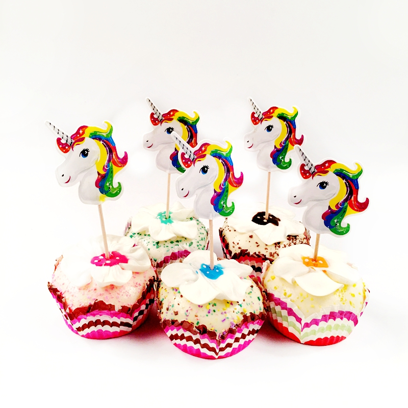 Rainbow Gay Pride Cupcake Topper Toothpicks LGBT Party Flags Decoration Cake