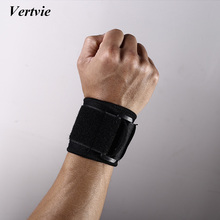 Vertvie Brand Elastic Wristband Protection Buckle Wrist Support Weightlifting Bodybuilding Outdoor Sports Safety Wrist Guard(China)