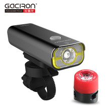 GACIRON Bike Bicycle 400 Lumens LED Flashlight USB Rechargeable handlebar Headlight Biking Lamp with W05 tail light set