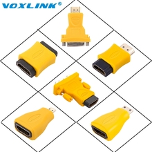 VOXLINK HDMI Adapter Socket Male to Female/male Converter Connector to 24+5 DVI Micro Mini for HDTV Plasma DVD Projector(China)