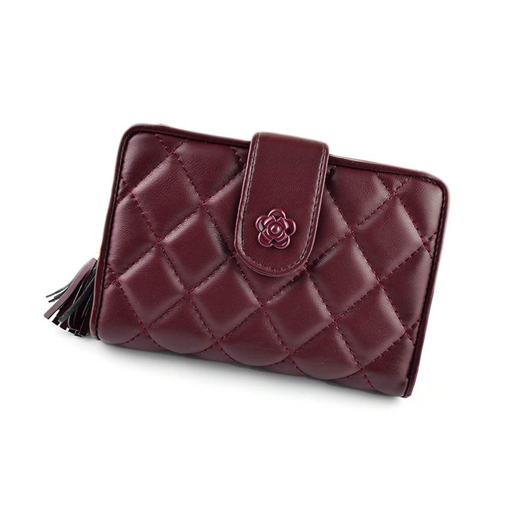 New Arrival 1PC Women Zipper Drawstring Grid leather Purse Clutch Wallet Bag Card Holder Handbags<br><br>Aliexpress