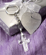 Wedding Favors and Gifts Crystal Collection Cross Keychain  Baby Christening Gifts Baby Shower Favors