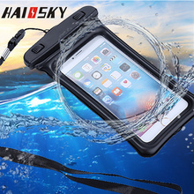 "5.8"" Waterproof Case Pouch Bubble Float Bag Water Proof Cover For iPhone SE 5s 6 6s 7 Plus 8 Samsung S8 Plus Xiaomi mi5s Mi5 mi6(China)"