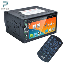 "2Din 6.2"" HD Android 4.4.4 Capacitive Touch Screen Quad Core Car DVD Player GPS Navigation Bluetooth WIFI SD/USB/FM/AM"