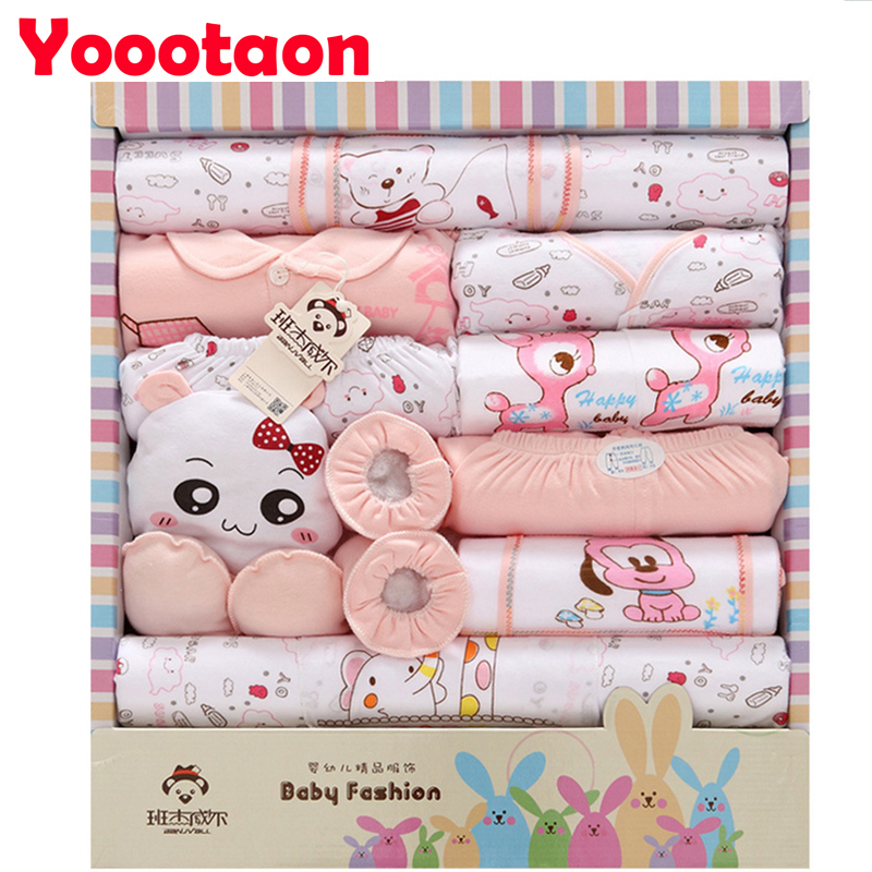 Pure cotton 18pcs/set Cartoon Babys clothing sets for newborn INFANT UNDERWEAR  High quality Baby Girl Clothes baby boy clothes<br><br>Aliexpress