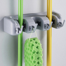 New 1 Pcs Popular Kitchen Wall Mounted Hanger Storage Rack 3-5 Position Kitchen Mop Brush Broom Organizer Holder Tool