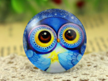 New Fashion 5pcs/Lot 25mm Handmade Photo Glass Cabochons Big Eyes (F2-47)(China)