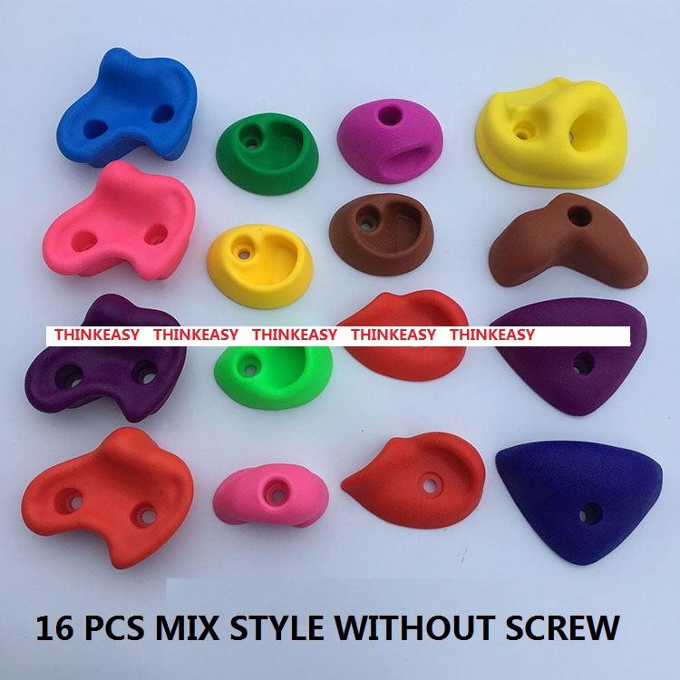 HTB1jLe7RXXXXXcCaXXXq6xXFXXX4 - 16 to 32 PCS / SET Plastic children Rock Climbing Wall Rock Stones Kids Toys Sports tool outdoor game kindergarten Without scre