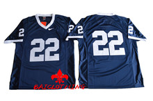 Free Shipping Nike Penn State Nittany Lions 22 College Football Jersey - Navy Blue Size M,L,XL,2XL,3XL(China)