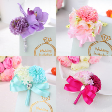 2pcs Custom Wedding Supplies The Wedding Couple Corsage, Korean Wedding The Bride and Groom Corsage, Parents A Corsage