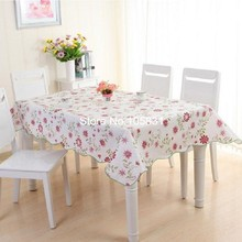 Rectangle Round Floral PVC Table Cloth Water Heat and Oil Resistant Tablecloth Soft Plastic Table Cover