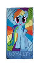 Free Shipping Anime Manga My Little Pony Rainbow Horse  Face Towels 30x70cm Hand Towel 008