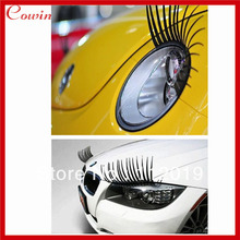 Free shipping 10pcs/lot Auto eyelashes Fashion Car Eyelashes PVC Logo Stickers Lashes Decal Accessories stereo car stickers