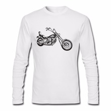 2017 Men T Shirts Motorcycle Fashion Print Ride t-shirt Hip Hop Long Sleeve Male TShirts real madrid bape palace popsocket kpop(China)