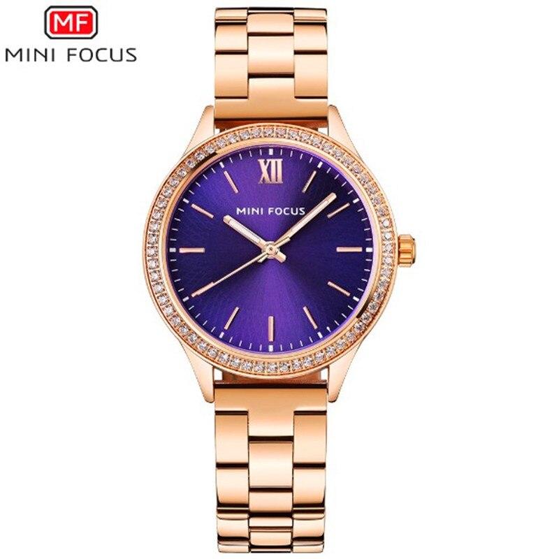 2018 Fashion Women Gold Rhinestone Watch New Style Female Quartz Wristwatch Lady Waterproof Watches Bracelet Relogio Feminino<br>