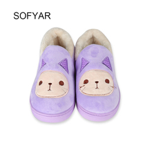 winter slipper cat lovers cotton shoes manufacturers selling household thermal couple cotton shoes wholesale bag with cotton