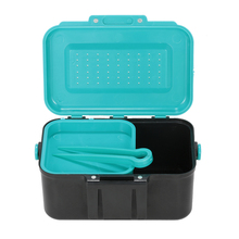 Durable Portable Multifunction Earthworm Fishing Boxes/Fish Lure Hook Bait Tackle Waist Fishing Tackle Boxes Fishing Accessories(China)
