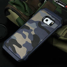PC+TPU Armor Hybrid Camouflage outdoors Cell Phone Cases For Samsung Galaxy S6 S7 edge plus Women Military Camo Case Cover
