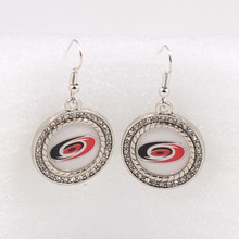 Carolina Hurricanes Team Charm Dangle Earrings Ice Hockey Sport Fans Earrings For Women Birthday Party Gift(China)