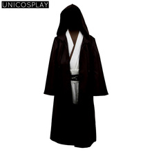 Star Wars Kids Robe Obi Wan Kenobi Jedi Cosplay Costume Halloween Cloak Sets Uniform for Child