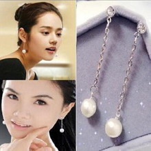 2016 new fashion jewelry pearl tassel earrings long section accessories temperament earrings wholesale manufacturers