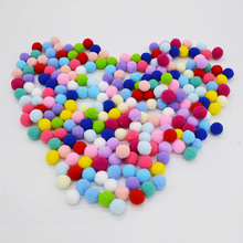 Buy 50pcs/lot 20mm Multi Color Pompom Fur Plush Ball DIY Craft Soft Pom Poms Children Toys Wedding Home Decoration Accessories for $1.31 in AliExpress store