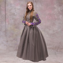 1860s Europ Afternoon Dress Medieval Renaissance Wedding Dress Ball Gown Victorian Classic Medieval Dress(China)