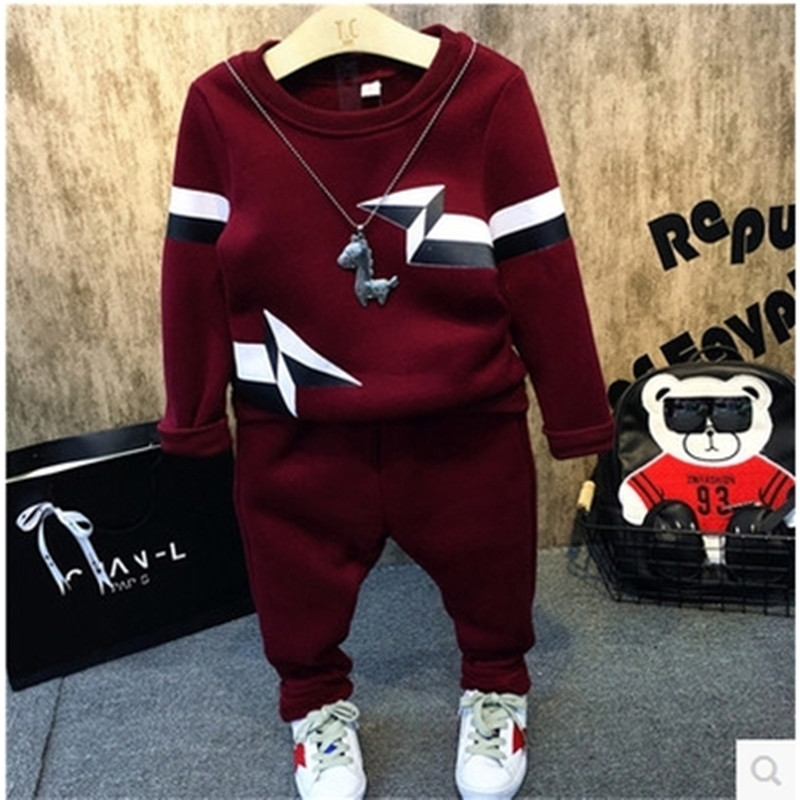 South Korean boy clothes set of qiu dong children in winter clothes boy clothing long sleeve jersey + pants, childrens clothes<br><br>Aliexpress