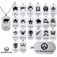 New Trendy Euro-American Overwatch Game Jewelry All Heroes Characters Tracer Reaper Hanzo Metal OW Key Chain Pendants Necklace