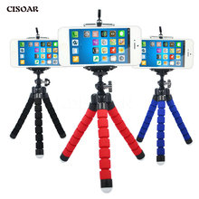CISOAR Sponge Flexible Octopus Tripod For Phone with Phone Holder Tripod for iPhone Samsung Huawei Xiaomi Lenovo Smart Mobile(China)