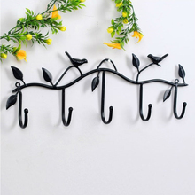 Hat Key Holde Clothes Hook Wall Hanger Bird Bathroom Home Decor Hanger Accessories 5 Hooks Metal Coat Hooks Robe Work Well