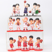 8cm 5pcs/set Slam Dunk action Figures Japanese Anime Figure Basketball Toys Sakuragi Hanamichi Pvc Cartoon Figure Kid Gift(China)