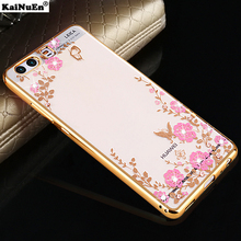 luxury gold coque cover case for huawei p10 nova lite plus p 10 p10lite silicon silicone original phone cases diamond soft tpu