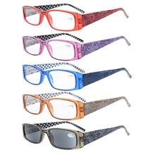 7a3c6c5d2872f 5-Pack R006P Primavera Dobradiças Templos Patterned Retangular Óculos de  Leitura + 0.5 0.75 1.0 1.25 1.5 1.75 2.0 2.25 2.5 2.75 .