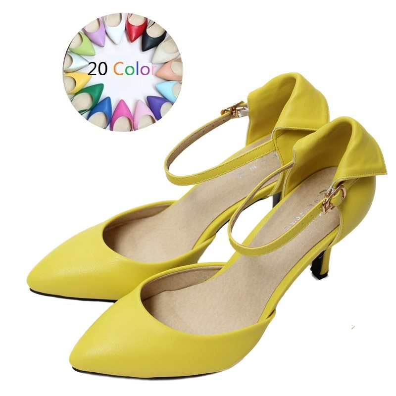 2017 Size 34-41 Fashion Sheepskin Sexy Women Sandals High Heels Ladies Pumps Shoes Woman Summer Style Chaussure Femme<br>