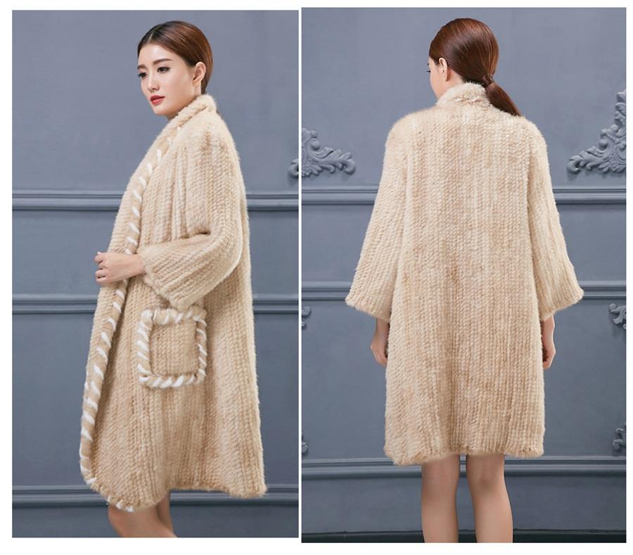 women luxury genuine real knitted mink fur shawls (9)