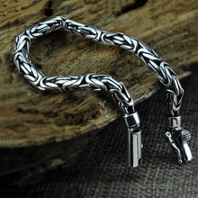 Buy Pure 925 Silver Bracelet Width 5-8mm 17cm 25cm Classic Link Chain S925 Thai Silver Bracelets Women Men Jewelry for $35.68 in AliExpress store