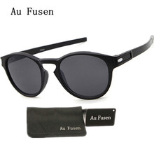 AuFusen brand Designer Luxury Latch sports sunglasses men vintage classic oversized round women sunglasses oak 9265 Gafas 2017(China)