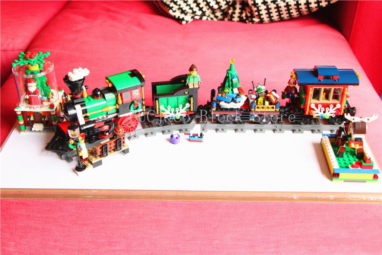 Lepin Christmas Series 36001 770Pcs he Christmas Winter Holiday Train Model Building Blocks set Bricks Toys For Children 10254<br>