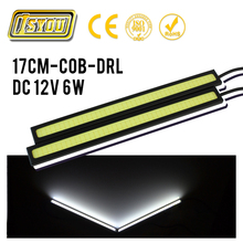 20pcs Waterproof 17cm COB DRL LED Car Parking LED DRL Daytime Running Light Auto Lamp For Universal Car light source Carstyling(China)