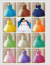 Hot Sale! 2014 Toddler 3D children Koopo girls rose princess dress sleeveless dress tutu