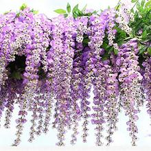 12pcs 110cm Artificial Wisteria Simulation Flowers Artificial Flower Overall Floral Silk Flower Handmade Living Room Lavender