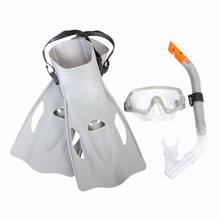 JZ14 New Professional Skin Friendly Silicone Diving Sets (Goggles/Breathing Tube/Fins)With Durable&Adjustable Headband(China)